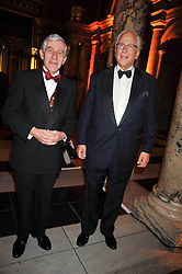 Left to right, JACK STRAW and SIR EVELYN DE ROTHSCHILD at a dinner to celebrate the opening of 'Maharaja - The Spendour of India's Royal Courts' an exhbition at the V&A, London on 6th October 2009.