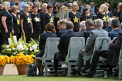 © London News Pictures. 07/07/15. London, UK. Prince William talks to Tessa Jowell at the beginning of the Memorial Service in Hyde Park to mark the 10 year anniversary of the 7/7 London bombings, Central London. Photo credit: Laura Lean/LNP