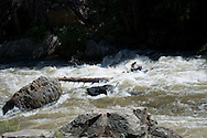 Lost raft paddles in Clear Creek