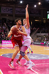 28.03.2016, Telekom Dome, Bonn, GER, Beko Basketball BL, Telekom Baskets Bonn vs FC Bayern Muenchen, 23. Runde, im Bild Maximilian Kleber (FC Bayern Muenchen #42) beim Korbleger gegen Tadas Klimavicius (Telekom Baskets Bonn #11) // during the Beko Basketball Bundes league 23th round match between Telekom Baskets Bonn and FC Bayern Munich at the Telekom Dome in Bonn, Germany on 2016/03/28. EXPA Pictures © 2016, PhotoCredit: EXPA/ Eibner-Pressefoto/ Schüler<br /> <br /> *****ATTENTION - OUT of GER*****
