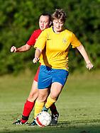 FODBOLD: Anne-Mette Poulsen (Ølstykke FC) under træningskampen mellem Ølstykke FC og BSF den 10. august 2017 på Ølstykke Idrætsanlæg. Foto: Claus Birch