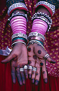 Hands and bangles, in Rajasthan.