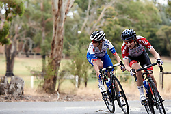 Brodie Chapman (AUS) in the break on Stage 1 of 2020 Santos Women's Tour Down Under, a 116.3 km road race from Hahndorf to Macclesfield, Australia on January 16, 2020. Photo by Sean Robinson/velofocus.com