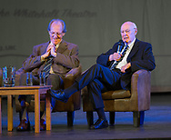 Ian Ure grins as Alan Gilzean talks about Dundee's championship triumph at Muirton Park - Dundee FC night of champions at the Whitehall Theatre, Dundee, Photo: David Young<br /> <br />  - &copy; David Young - www.davidyoungphoto.co.uk - email: davidyoungphoto@gmail.com