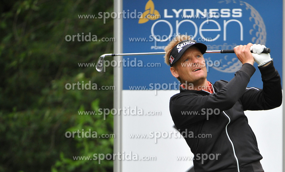 05.06.2014, Country Club Diamond, Atzenbrugg, AUT, Lyoness Golf Open, im Bild Rhys Davies (WAL) // Rhys Davies (WAL) in action during the Austrian Lyoness Golf Open at the Country Club Diamond, Atzenbrugg, Austria on 2014/06/05. EXPA Pictures © 2014, PhotoCredit: EXPA/ Sascha Trimmel