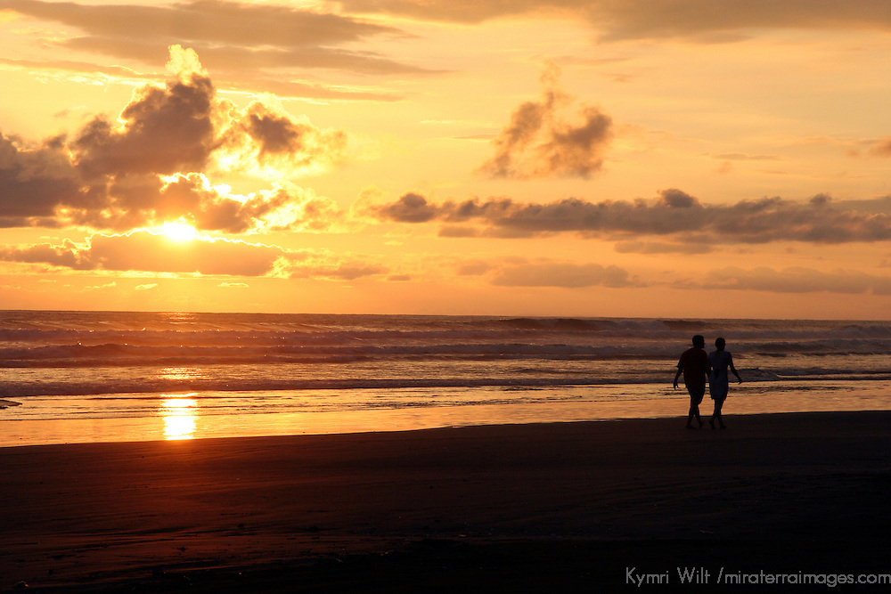 Central America, Costa Rica, Playa Esterillos Este. Sunset scenes at Playa Esterillos Este from Alma del Pacifico.