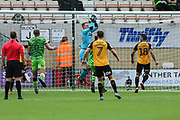 Forest Green Rovers goalkeeper Lewis Thomas(24) collects a cross during the EFL Sky Bet League 2 match between Cambridge United and Forest Green Rovers at the Cambs Glass Stadium, Cambridge, England on 7 September 2019.