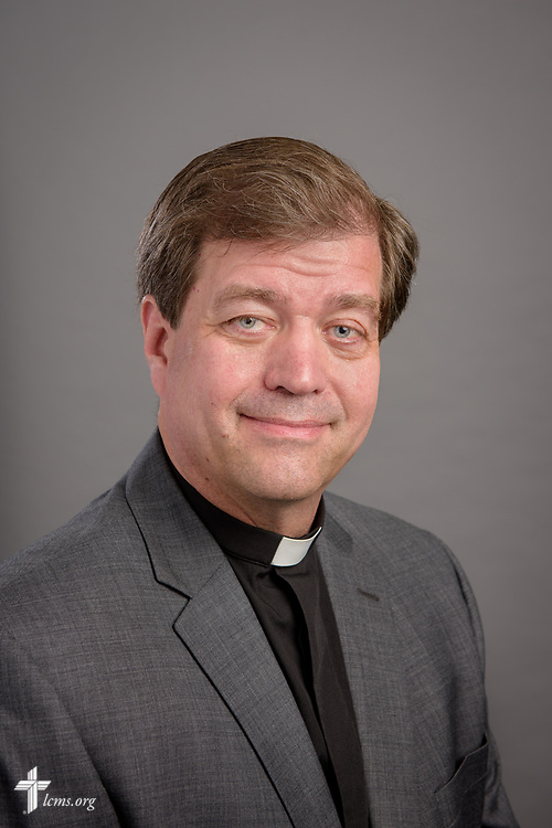 Headshot portrait of the Rev. Robert Zagore, new executive director of the LCMS Office of National Mission, at the International Center of The Lutheran Church–Missouri Synod on Thursday, May 24, 2018, in St. Louis. LCMS Communications/Erik M. Lunsford