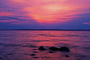 Morning light spills on Parry Sound, Georgian Bay<br /> Killbear Provincial Park<br /> Ontario<br /> Canada