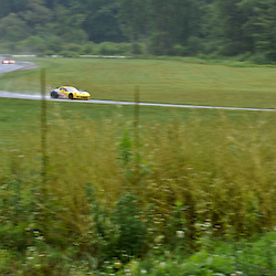 July 23, 2010; Jan Magnussen and Johnny O'Connell's Corvette Racing Chevrolet Corvette ZR1 during practice for The American Le Mans Series Northeast Grand Prix at Lime Rock Park in Lakeville, Conn.