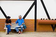 Santa Maria de Jetiba_ES, Brasil...Rota Imperial, documentacao fotografica da antiga estrada Sao Pedro D Alcantra, que liga o Espirito Santo a Minas Gerais.Na foto detalhe da arquitetura Enxaimem e do povo pomerano no centro da cidade. ..The Imperial Route (Rota Imperial), photographic documentation of the road Sao Pedro D Alcantra between Espirito Santo and Minas Gerais.In this photo the Enxaimem architeture and pommern people in downtown...Foto: LEO DRUMOND / NITRO