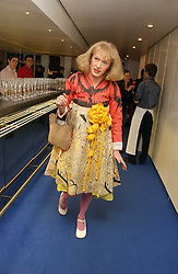 Artist GRAYSON PERRY at an exhibition of leading artist Ellsworth Kelly at the Serpentine Gallery, Kensington Gardens, London followed by a dinner at the Riverside Cafe, London on 17th March 2006.<br />