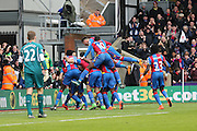 Crystal Palace celebrate Crystal Palace midfielder Joe Ledley goal during the Barclays Premier League match between Crystal Palace and Liverpool at Selhurst Park, London, England on 6 March 2016. Photo by Simon Davies.