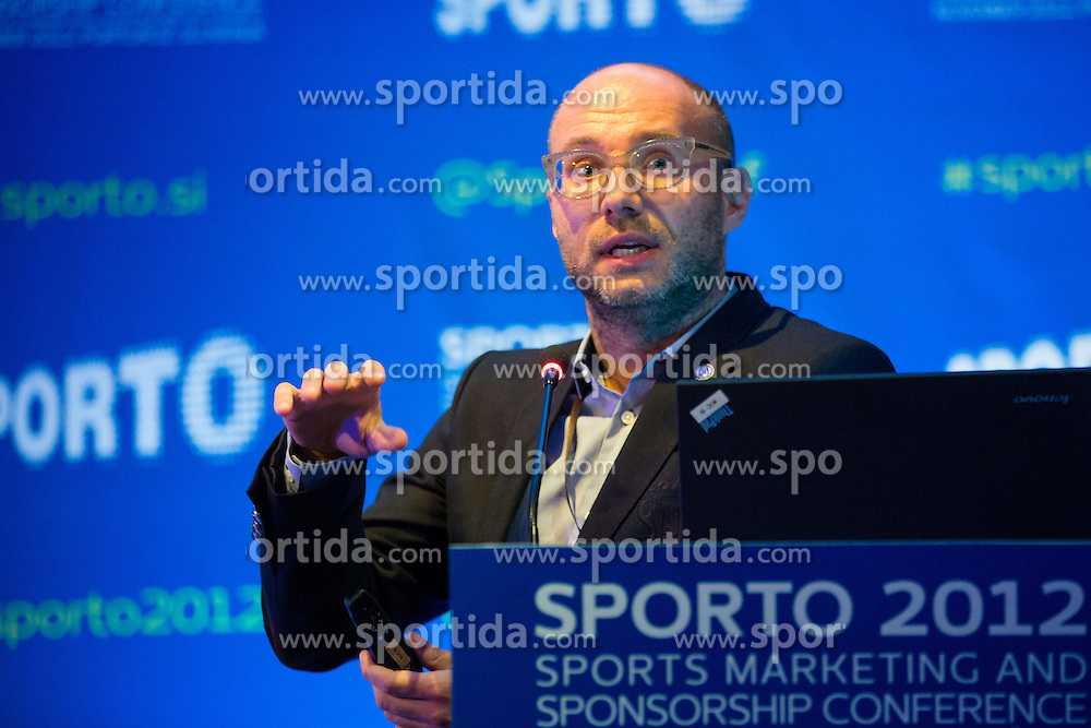Ranko Vucinic of PRiredba studio and KHL Medvescak Zagreb during sports marketing and sponsorship conference Sporto 2012, on November 26, 2012 in Hotel Slovenija, Congress centre, Portoroz / Portorose, Slovenia. (Photo By Vid Ponikvar / Sportida.com)