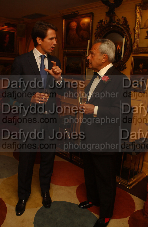 Prince Pavlos of Greece and Taki  Theodorakopoulos , Party given by Taki and Alexandra Theodorakopoulos. Annabels. London. 26 September 2006. -DO NOT ARCHIVE-© Copyright Photograph by Dafydd Jones 66 Stockwell Park Rd. London SW9 0DA Tel 020 7733 0108 www.dafjones.com