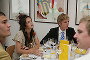 Calypso Lawrence and James Cook. Glorious Goodwood. 2 August 2007.  -DO NOT ARCHIVE-© Copyright Photograph by Dafydd Jones. 248 Clapham Rd. London SW9 0PZ. Tel 0207 820 0771. www.dafjones.com.