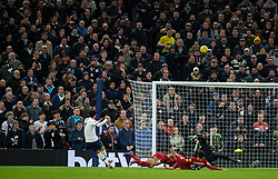 LONDON, ENGLAND - Saturday, January 11, 2020: Tottenham Hotspur's Heung-Min Son shoots high over the bar during the FA Premier League match between Tottenham Hotspur FC and Liverpool FC at the Tottenham Hotspur Stadium. (Pic by David Rawcliffe/Propaganda)
