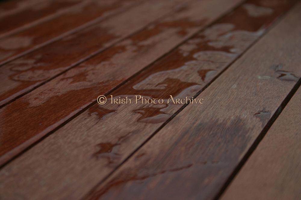 Water on boardwalk by Ben Phillips