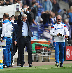 Stoke City manager Mark Hughes (C) applauds the fans at the final whistle - Mandatory by-line: Jack Phillips/JMP - 29/07/2017 - FOOTBALL - Macron Stadium - Bolton, England - Bolton Wanderers v Stoke City - Pre-Season Club Friendly