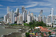 Paitilla neighborhood from Pacific point, Panama city,Panama,Central America