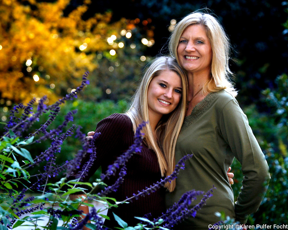 Mother and daughter portrait. Ann Henderson and daughter Mary Kate. (Model released)