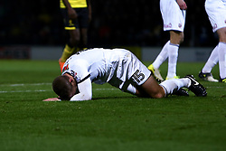 Paul Coutts of Sheffield United screams in agony after a bad challenge on him by Marvin Sordell of Burton Albion - Mandatory by-line: Ryan Crockett/JMP - 17/11/2017 - FOOTBALL - Pirelli Stadium - Burton upon Trent, England - Burton Albion v Sheffield United - Sky Bet Championship - Mandatory by-line: Ryan Crockett/JMP - 17/11/2017 - FOOTBALL - Pirelli Stadium - Burton upon Trent, England - Burton Albion v Sheffield United - Sky Bet Championship