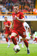 Ryan Kent of Liverpool (40) in action during the Pre-Season Friendly match between Bradford City and Liverpool at the Northern Commercials Stadium, Bradford, England on 14 July 2019.