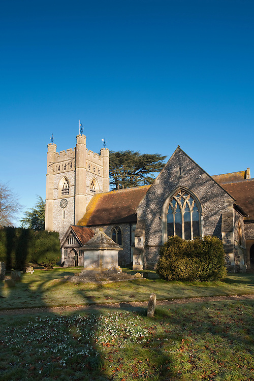 Church of St Mary the Virgin in Hambleden Village near Henley on Thames, Oxfordshire, Uk