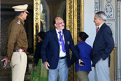 December 18, 2018 - Jaipur, Rajasthan, India - Board Of Control For Cricket In India (BCCI) acting president CK Khanna  (C) arrives for the Indian Premier League 2019 auction in Jaipur on December 18, 2018, as teams prepare their player rosters ahead of the upcoming Twenty20 cricket tournament next year. The 2019 edition of the IPL -- one of the world's most-watched sporting events attracting the world's top stars -- is set to take place in April and May next year.(Photo By Vishal Bhatnagar/NurPhoto) (Credit Image: © Vishal Bhatnagar/NurPhoto via ZUMA Press)