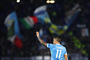 Joaquin Correa of Lazio greets supporters after scoring 1-0 goal during the UEFA Europa League, Group E football match between SS Lazio and CFR Cluj on November 28, 2019 at Stadio Olimpico in Rome, Italy - Photo Federico Proietti / ProSportsImages / DPPI