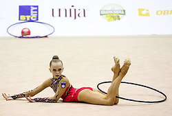 Aleksandra Podgorsek of Slovenia competes during 28th MTM - International tournament in rhythmic gymnastics Ljubljana, on April 4, 2015 in Arena Krim, Ljubljana, Slovenia. Photo by Matic Klansek Velej / Sportida