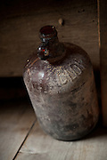 Glass clorox bottle found in a barn.<br />