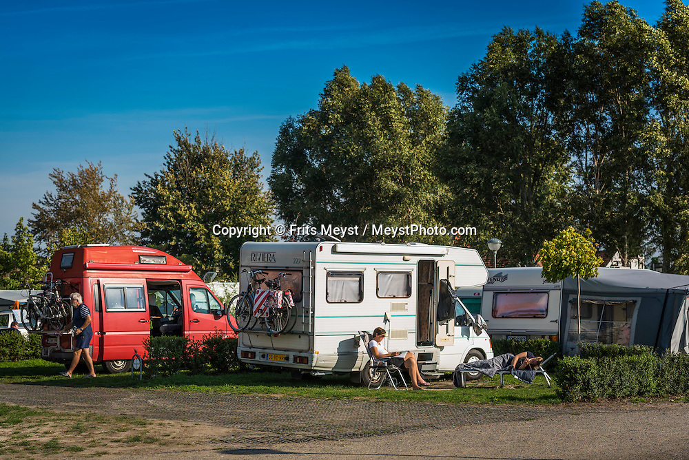 Mikulov, Moravia, Czech Republic, September 2015. Camping Autokemp Merkur Pasohlávky. Southern Moravia is most famous for its wine,  rolling hills and pretty landscapes. Photo by Frits Meyst / MeystPhoto.com