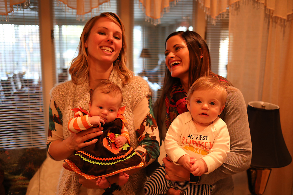 LOUISVILLE, Ky., -- Gemma and Winston celebrated their first Thanksgiving with the family at Mimi's House, Thursday, Nov. 23, 2017 at the Palmer Palace in LOUISVILLE.