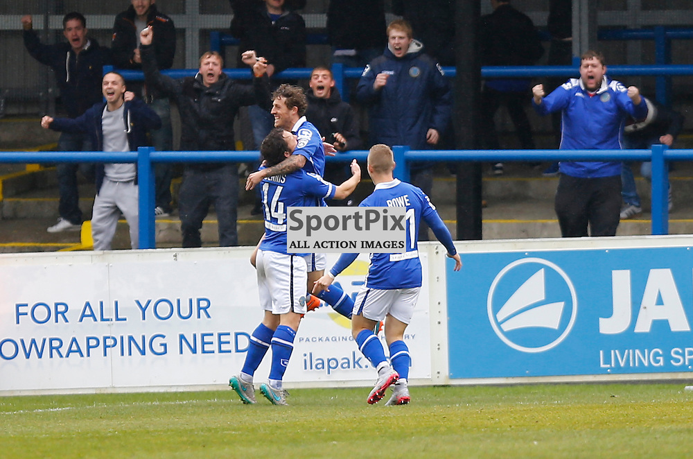 Macclesfield Midfielder Danny Whitehead (18) celebrates scoring the matches first goal. Dover Athletic against Macclesfield Town in the Vanorama Conference Premier. At Crabble Stadium, Dover, Kent. (c) Matt Bristow | SportPix.org.uk