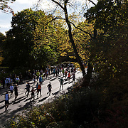 NYTRUN - NOV. 6, 2016 - NEW YORK - Runners head south on East Drive in Central Park (near the Metropolitan Museum of Art) as they participate in the 2016 TCS New York City Marathon on Sunday afteroon. NYTCREDIT:  Karsten Moran for The New York Times