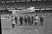 Officials stand for national anthem before at the All Ireland Senior Hurling Final, Cork v Kilkenny in Croke Park on the 3rd September 1972. Kilkenny 3-24, Cork 5-11.