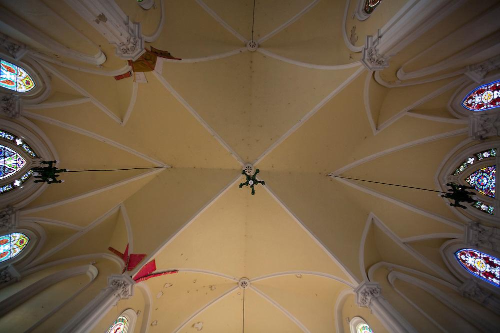 Vitoria_ES, Brasil...Detalhes da Catedral Metropolitana de Vitoria localizada na regiao da Cidade Alta...Catedral Metropolitana de Vitoria detail, located in the Cidade Alta region...Foto: LEO DRUMOND / NITRO