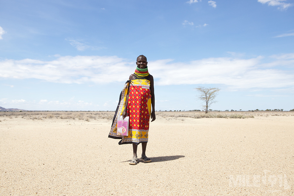 Women walk for miles to come to the Merlin outreach clinic in Kakimat. These clinics provide immunisations and nutrition support and advice.