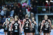 The Black Sticks Women walk off the field at half time. Black Sticks Women vs Australia, Ford Trans-Tasman Trophy test series, Lloyd Elsmore Hockey Stadium, Auckland, New Zealand. 20 November 2016. © Copyright Image: www.photosport.nz