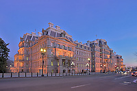 Twilight Exterior image of the Eisenhower Executive Office Building