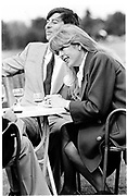 Lady and Lord Tryon Tryon. Gucci Challenge Cup. Guards Polo Club. 15 March 1983.  *** Local Caption *** -DO NOT ARCHIVE-© Copyright Photograph by Dafydd Jones. 248 Clapham Rd. London SW9 0PZ. Tel 0207 820 0771. www.dafjones.com.