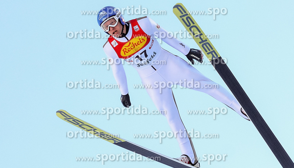 30.01.2016, Casino Arena, Seefeld, AUT, FIS Weltcup Nordische Kombination, Seefeld Triple, Skisprung, Probedurchgang, im Bild Bernhard Gruber (AUT) // Bernhard Gruber of Austria competes during his Trial Jump of Skijumping of the FIS Nordic Combined World Cup Seefeld Triple at the Casino Arena in Seefeld, Austria on 2016/01/30. EXPA Pictures © 2016, PhotoCredit: EXPA/ JFK