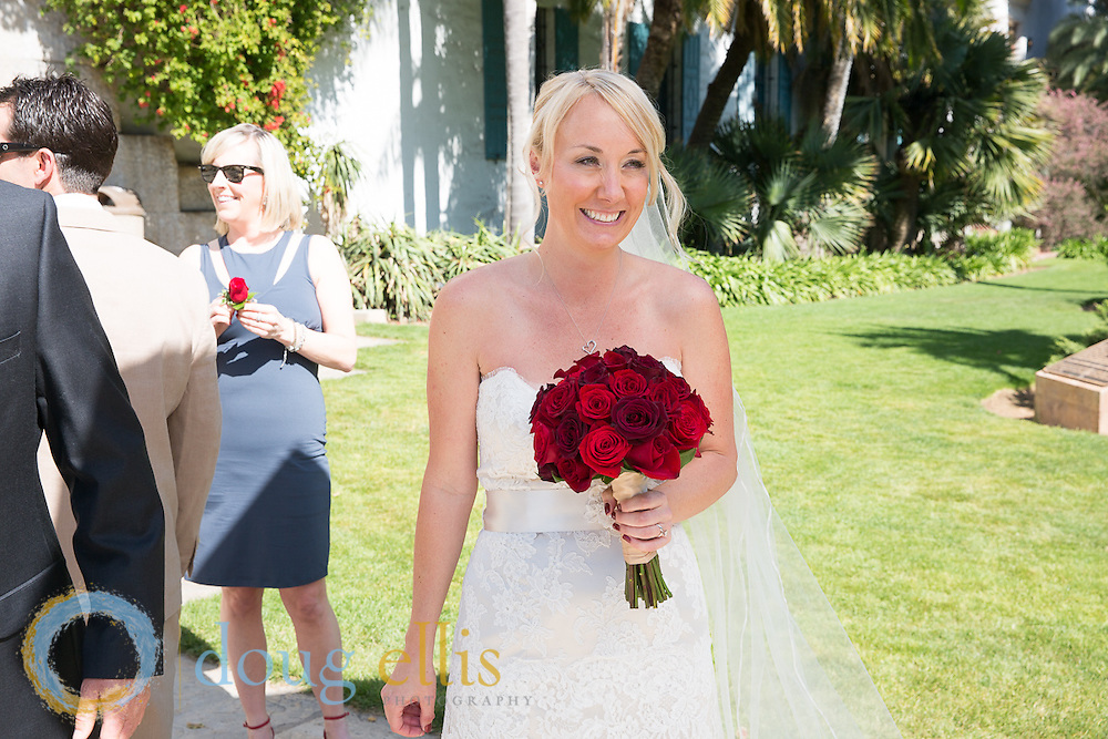 Wedding at the Santa Barbara courthouse for Andrea and Stephen, April 2014.
