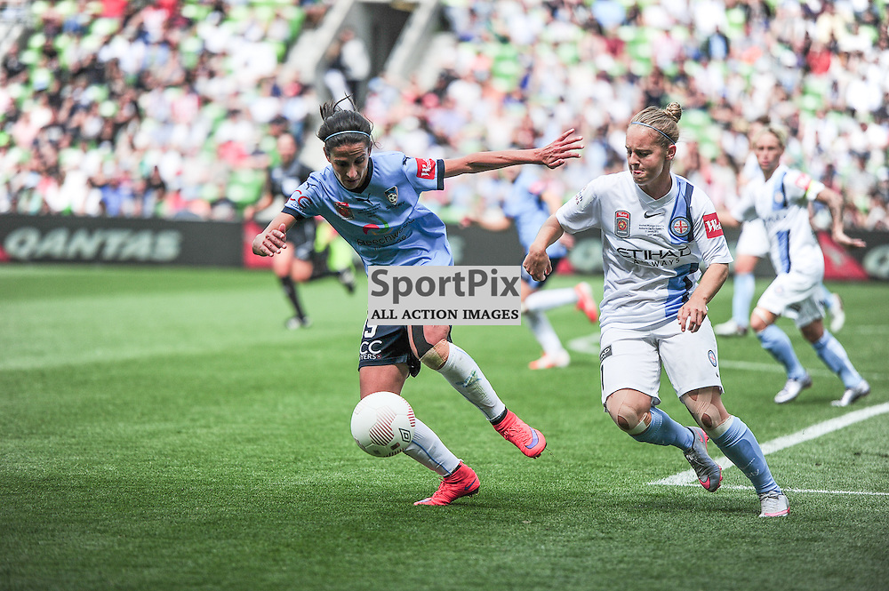 Leena Khamis of Sydney FC Women, Marianna Tabain of Melbourne City FC Women, Westfield W-League 2015/16 Grand Final. Melbourne City FC Women v Sydney FC Women at Aami Park on January 31st 2016 - © Mark Avellino | SportPix.org.uk Victory to Melbourne City 4:1