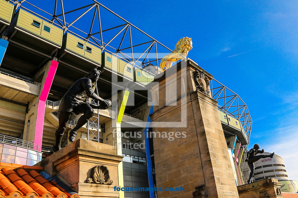 Twickenham bathed in sunshine before the final of the 2015 Rugby World Cup at Twickenham Stadium, Twickenham<br /> Picture by Andy Kearns/Focus Images Ltd 0781 864 4264<br /> 31/10/2015