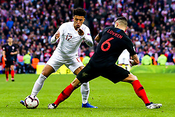 Jadon Sancho of England takes on Dejan Lovren of Croatia - Mandatory by-line: Robbie Stephenson/JMP - 18/11/2018 - FOOTBALL - Wembley Stadium - London, United Kingdom - England v Croatia - UEFA Nations League