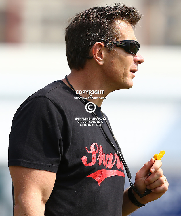 DURBAN, SOUTH AFRICA, 8 September, 2016 -Ryan Strudwick (Assistant Coach) of the Cell C Sharks during The Cell C Sharks training session at Growthpoint Kings Park in Durban, South Africa. (Photo by Steve Haag)<br /> <br /> images for social media must have consent from Steve Haag