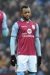 Jordan Ayew of Aston Villa cuts a dejected figure - Mandatory byline: Dougie Allward/JMP - 13/12/2015 - Football - Villa Park - Birmingham, England - Aston Villa v Arsenal - Barclays Premier League