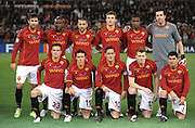 The Roma team before the UEFA Champions League, Round of Last 16, Second Leg match between AS Roma and Arsenal at the Stadio Olimpico on March 11, 2009 in Rome, Italy.
